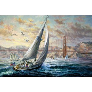 'Golden Gate' Painting Print on Canvas by East Urban Home