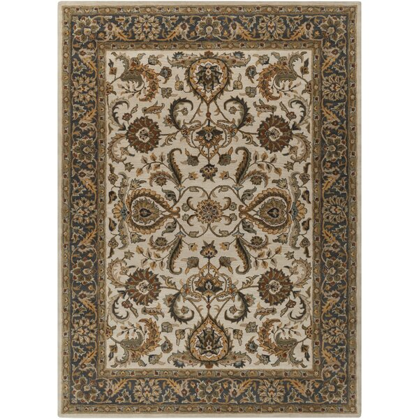 Dvorak Ivory/Charcoal Area Rug by Charlton Home