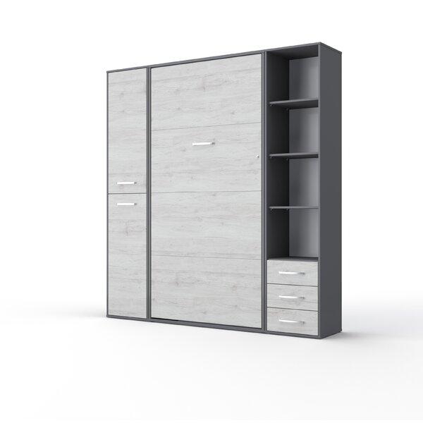 Newark Vertical King Storage Murphy Bed with Mattress by Orren Ellis