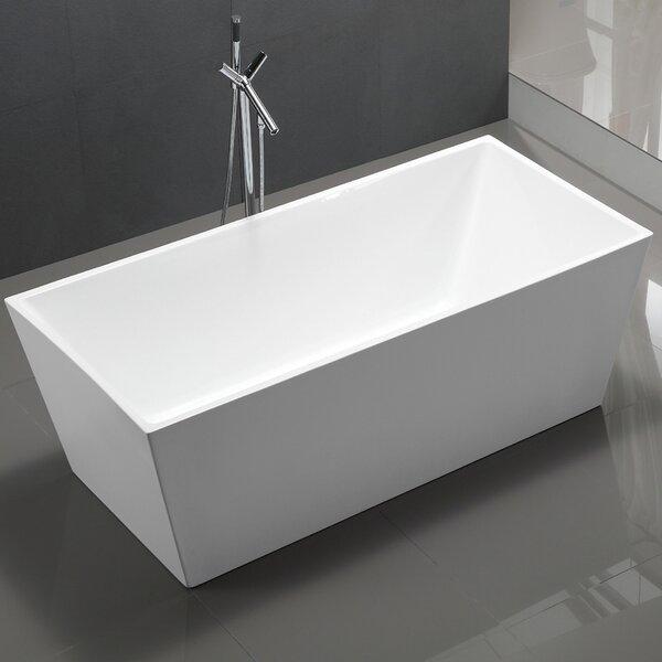 Palms 67 x 33 Freestanding Soaking Bathtub by MTD Vanities