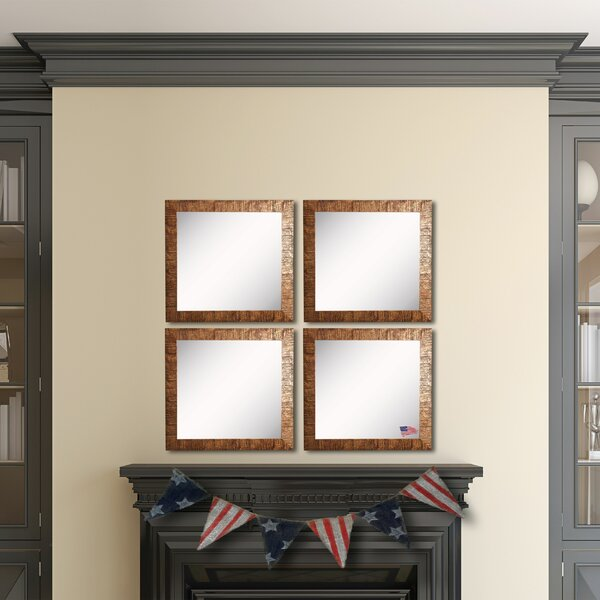 Willsey Bronze Wall Mirror (Set of 4) by Bloomsbury Market