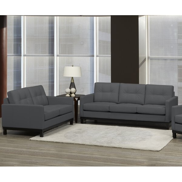 Merrick Road 2 Piece Leather Living Room Set by Latitude Run