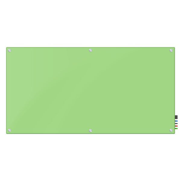 Wall Mount Magnetic Glass Eraser Board, 48 x 96 by Fab Glass and Mirror