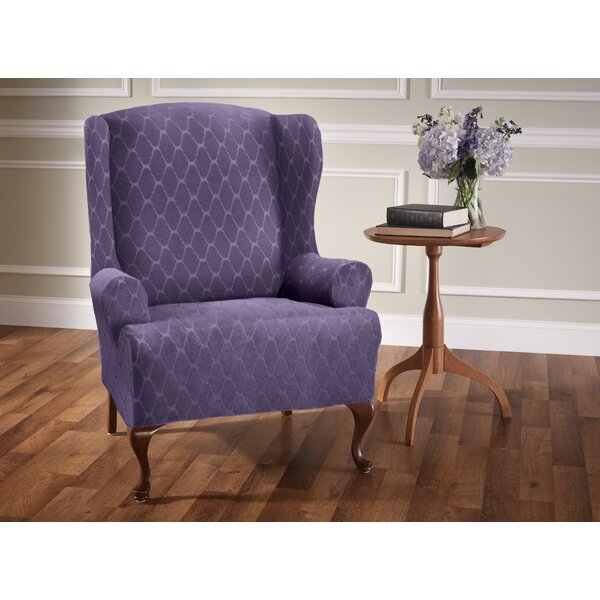 Check Price T-Cushion Wingback Slipcover