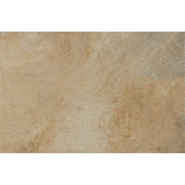 Rok Textured Ink Jet 13 x 20 Porcelain Tile in Calcare by Bedrosians