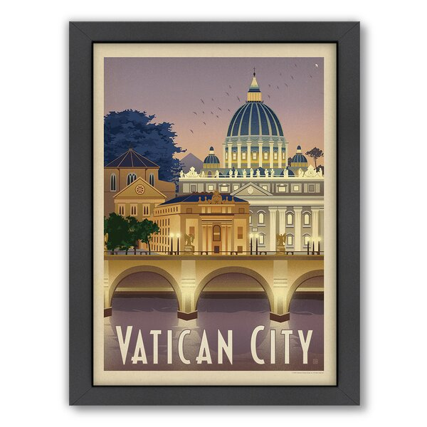 Vatican City Framed Vintage Advertisement by East Urban Home