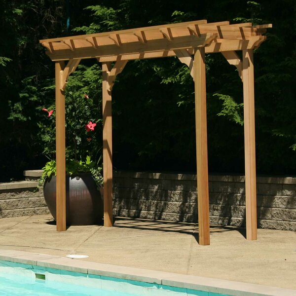 Cedar New Dawn 14 Ft. W x 3 Ft. D Solid Wood Pergola by Creekvine Designs
