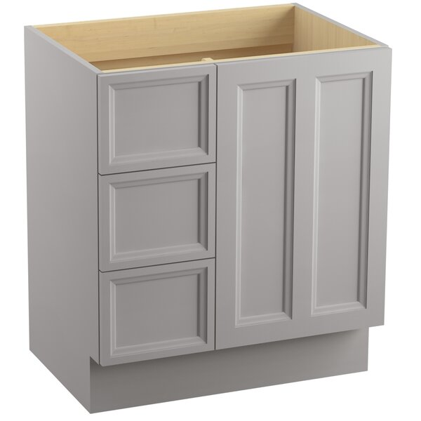 Damask™ 30 Vanity with Toe Kick, 1 Door and 3 Drawers on Left by Kohler