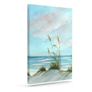 'Sea Oats' Painting Print on Wrapped Canvas by Highland Dunes