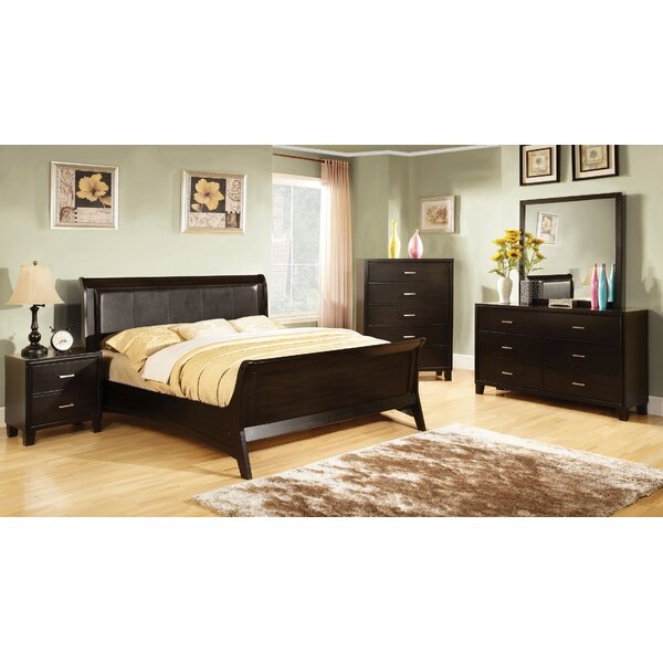 Upholstered Full Sleigh Bed by Hokku Designs