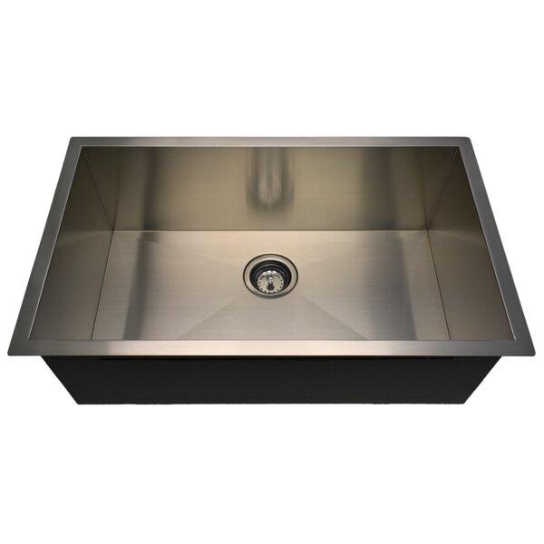 Zero-Radius 27 L x 18 W Undermount Kitchen Sink