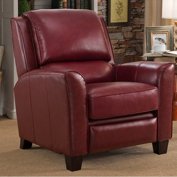 Review Surrett Red Leather Manual Recliner
