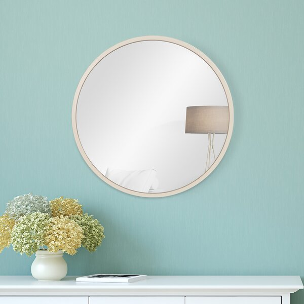 Charlette Distressed Metal Wall Mounted Mirror by Highland Dunes