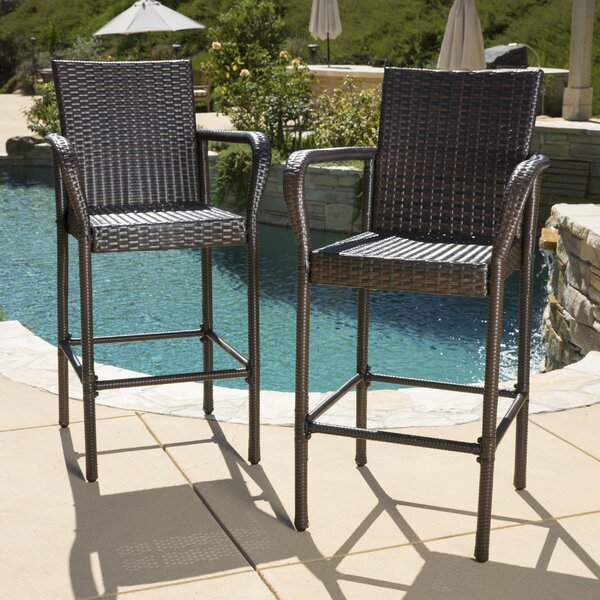 Lansdale 30 Patio Bar Stool (Set of 2) by Mercury Row