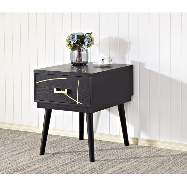 Wall End Table with Storage by Mercer41