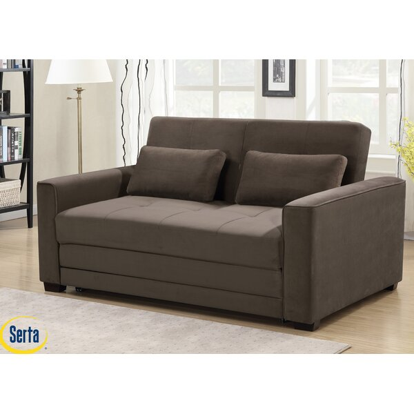 Winston Full Tufted Back Convertible Sofa by Serta Serta
