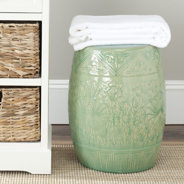 Lavin Embossed Accent Stool by One Allium Way