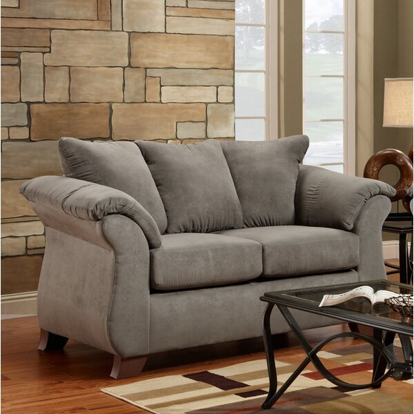 Hively Pillow Back Loveseat by Charlton Home