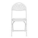 350-Pound Capacity Basics Folding Plastic Chair Black Set of 4