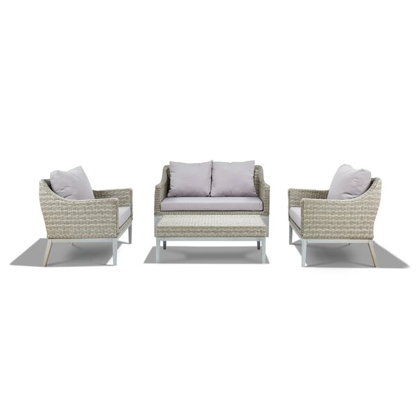 Crowson 4 Piece Outdoor Sofa Set by Corrigan Studio