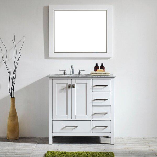 Newtown 36 Single Vanity Set with Mirror by Beachcrest Home