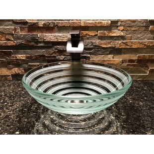 Savings Primo Glass Circular Vessel Bathroom Sink By Elegant Glass Engraving Studio