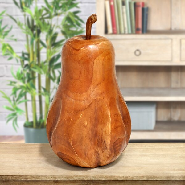 Colello Carved Pear Sculpture by Loon Peak