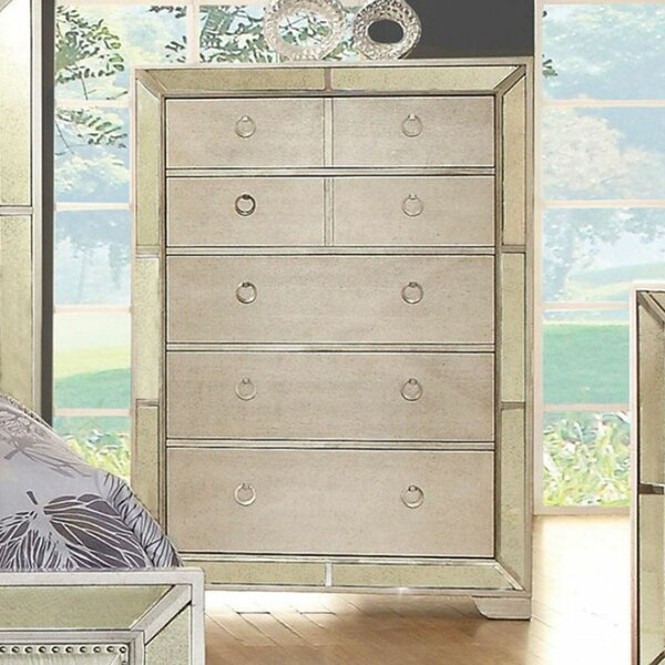 Coldiron 5 Drawer Chest by Everly Quinn