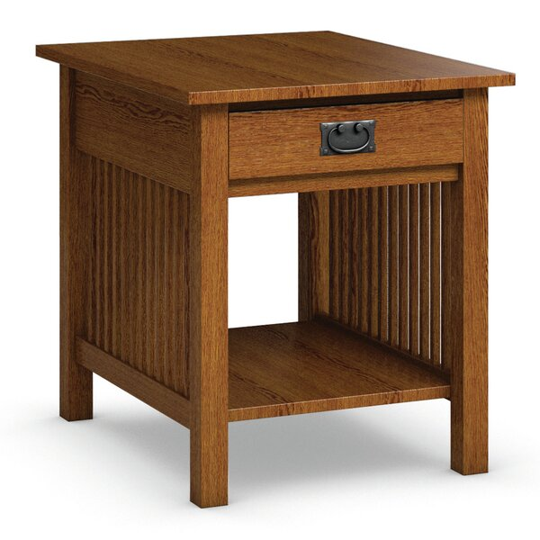 Mission Hills End Table With Storage by Caravel