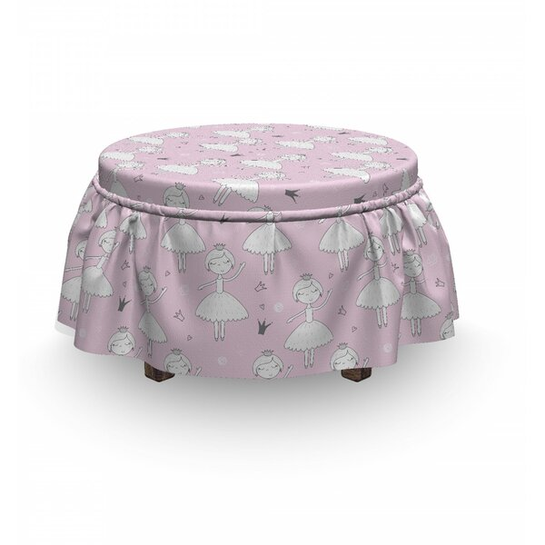 Dancer Girl Crown Ottoman Slipcover (Set Of 2) By East Urban Home
