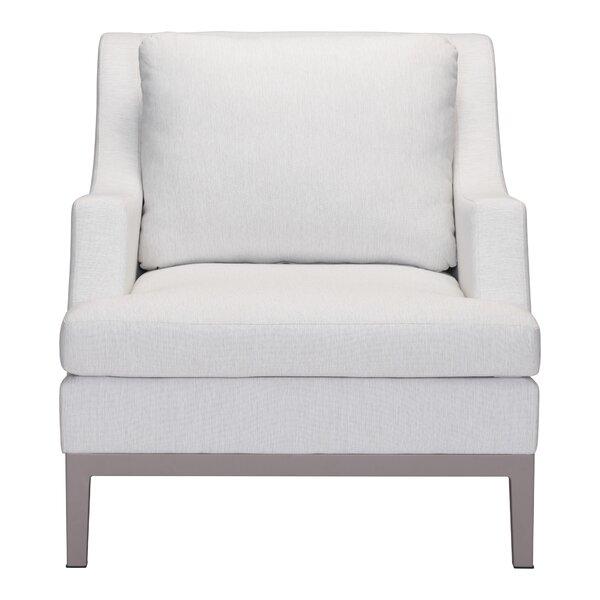 Kennington Patio Chair with Cushion by Orren Ellis