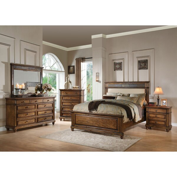 Saul Upholstered Panel Configurable Bedroom Set by Millwood Pines