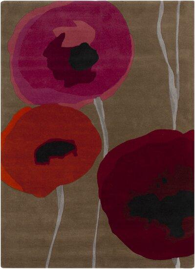 Caper Gray & Red Area Rug by Sanderson