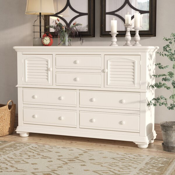 Morpeth 6 Drawer Combo Dresser by Three Posts