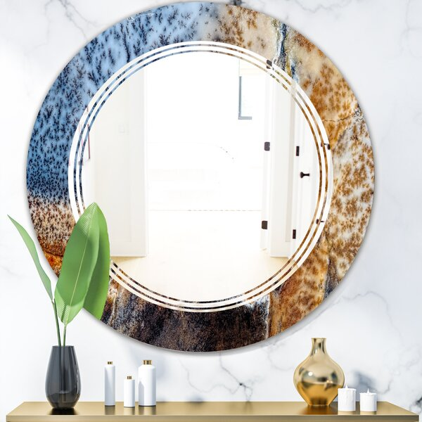 China Moss Agate Triple C Modern & Contemporary Frameless Wall Mirror