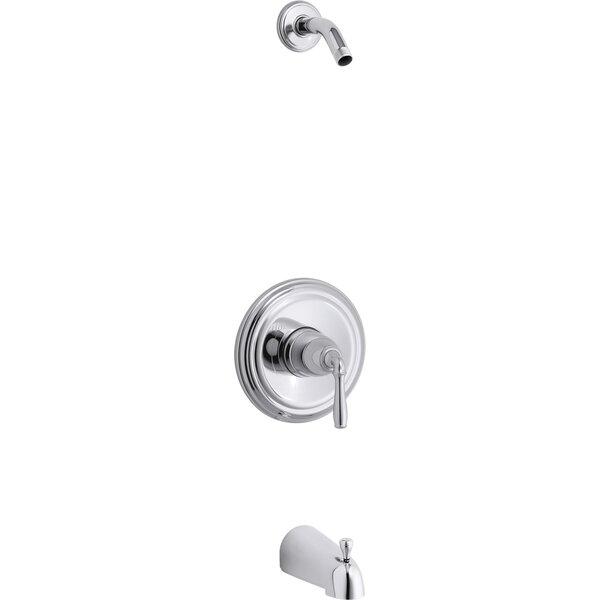 Kohler Devonshire Rite-Temp Bath and Shower Valve Trim with Lever Handle and Slip-Fit Spout Less Showerhead by Kohler Kohler