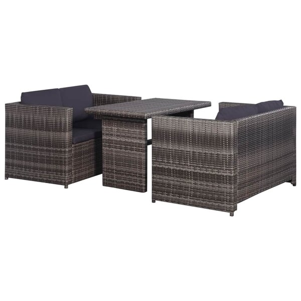 Darnley 3 Piece Rattan Sofa Seating Group with Cushions by Ebern Designs