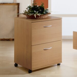 2 Drawer Mobile Filing Cabinet