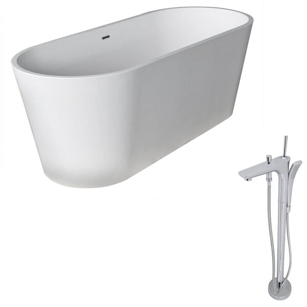 Rossetto 66.8 x 27.75 Freestanding Soaking Bathtub by ANZZI