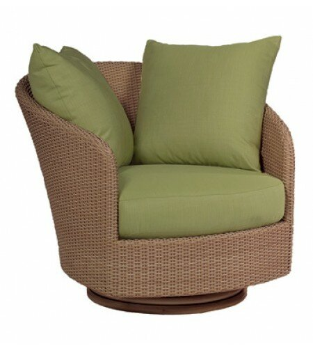 Oasis Swivel Patio Chair with Cushions by Woodard Woodard