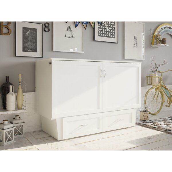 Greeson Queen Storage Murphy Bed With Mattress By Red Barrel Studio