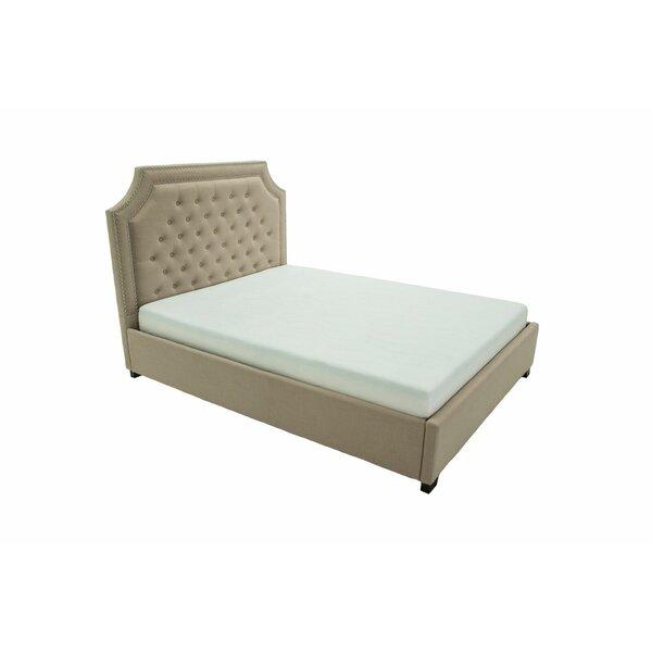 Papillion Upholstered Platform Bed by Alcott Hill