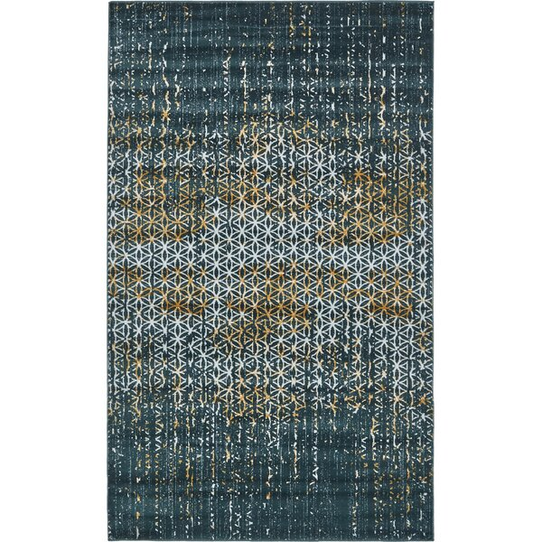 Jay Teal Area Rug by World Menagerie