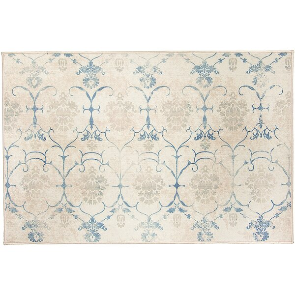 Leyla Creme Indoor/Outdoor Area Rug by Ruggable