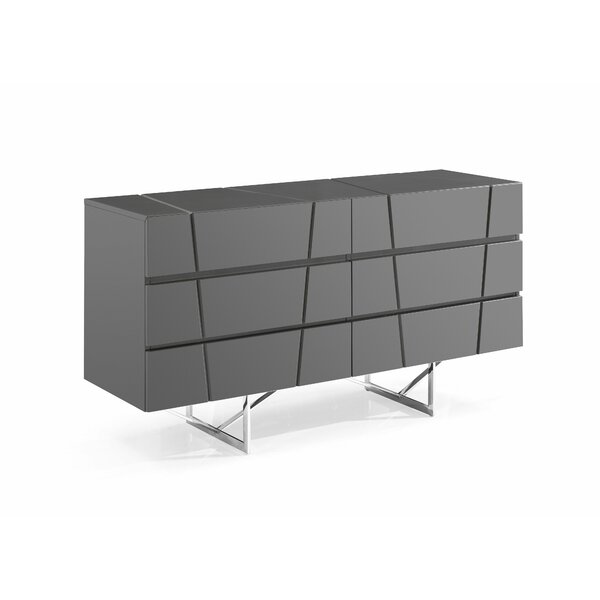 Marisol Modern 6 Drawer Double Dresser by Orren Ellis