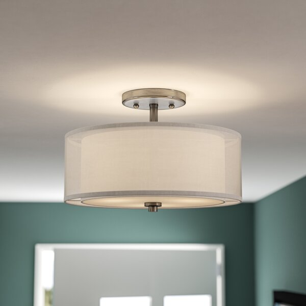 Bensenville 3-Light Drum/Cylinder Semi Flush Mount by Mercury Row
