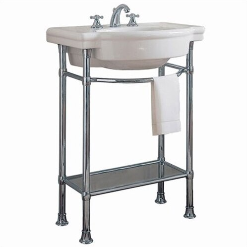Retrospect Ceramic 27 Console Bathroom Sink with O