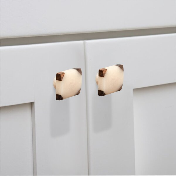Frosted Timber Corner Cabinet Square Knob (Set of 8) by Mascot Hardware