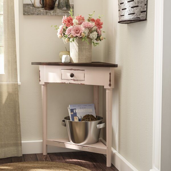 Tompkins Rustic Corner End Table by Laurel Foundry Modern Farmhouse