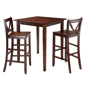 Square Pub Tables  Bistro Sets Youll Love Wayfair - Bar stools and table set